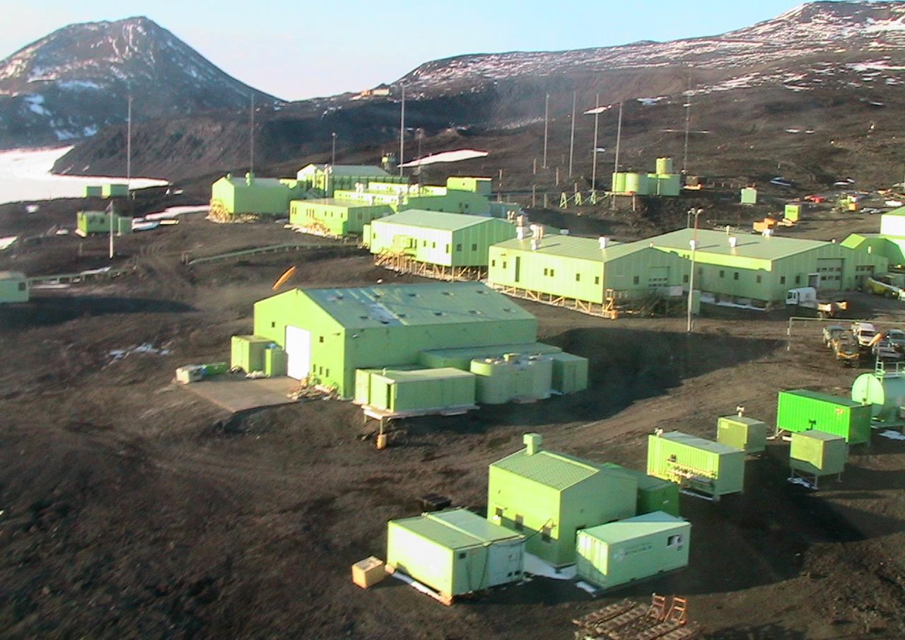 Stock photo of Scott Base in Antarctica