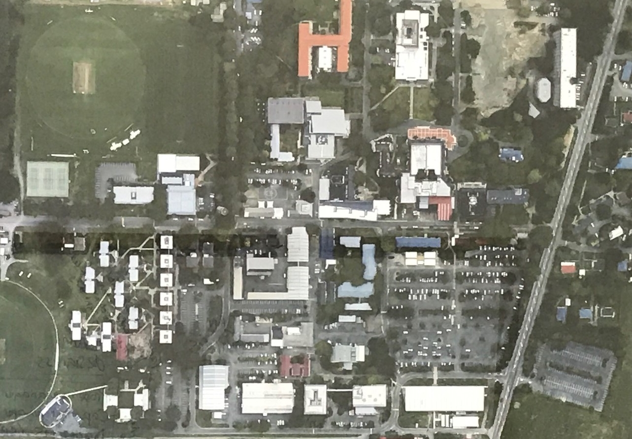 Lincoln University photographed from above